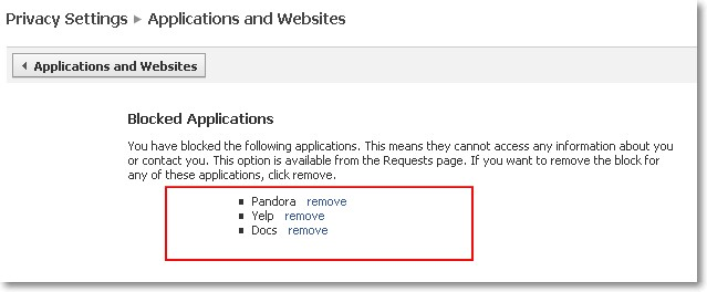 Blocked Applications