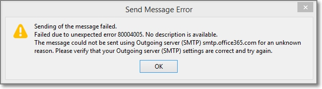 O365 Account with MFA on Thunderbird Can't Send Email